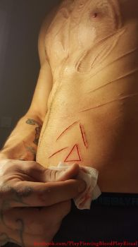 triangle scarification by TheChristOff