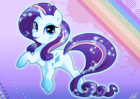 Rainbow Powered Rarity by C-Puff