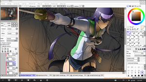 Busujima Saeko WIP by point23