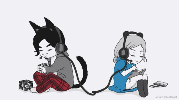 Long Distance Friends GIF by Leharc--BlueHeart