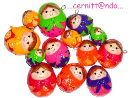 Polymer clay Matryoshkas by cernittando