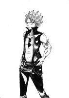 Natsu as a bad guy!^^' by 0Eka0