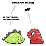 Wanna play tag Rex? by TheCosPig