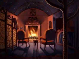 Abhorsen's room by MargoDraws