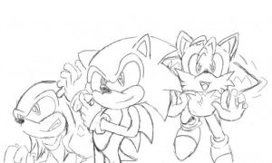 Sonic Sketch by LazyReptile126