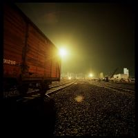 Night Photography - Railway 2 by mara-mara