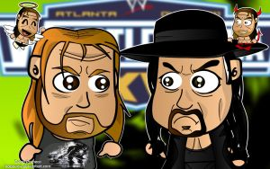 Triple H and Taker Wallpaper by kapaeme