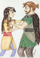Stoick and Valka Dancing by Jenni41