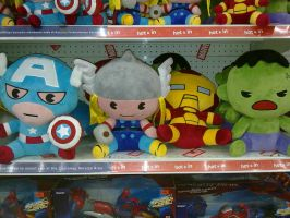 Kawaii Avengers Plushies [Toys' R' Us] by amadarian