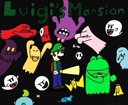 Luigi's Mansion Comic Cover by KookyShyGirl88