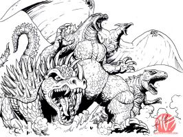Kaiju Team EAT YO FACE by KaijuSamurai