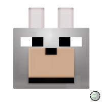 Minecraft - Wolf Head Icon by CoopaD