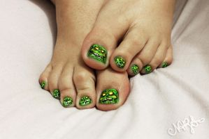 Zombies NailArt by natsy-alencar