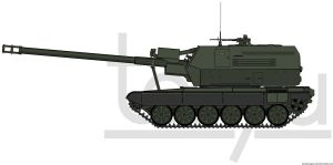 "155mm ShKH T72 A40 ""Himalaya"" by T0RYU"