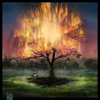 burning tree by Nass625