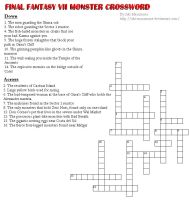 FF7 Enemy Crossword by Aki-Masamune