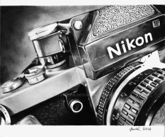 Nikon F2 camera [Graphite][A4] by TarcDnB