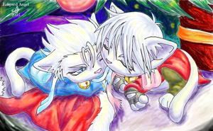 Dante and Vergil X-Mas by Eclipsed-Angel