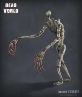 Dead World - Skinny Zombie by mikaelquites