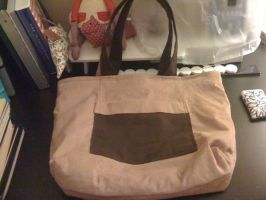 Shady Pink and Brown Tote by EekBouteek