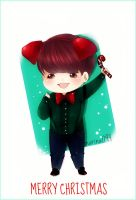 Merry Christmas-EXO-Baekhyun by marina094