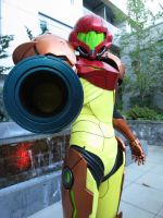 3D printed Samus cosplay 2 by TalaayaCosplay