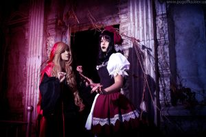 Gothic Red Riding Hood and Snow White by SaeAyumi