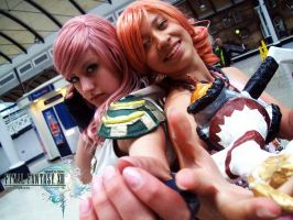 Lightning and Oerba Cosplay by misamuu