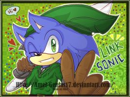 =Doodle= Sonic As Link by Amel-Genius17