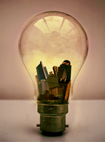 Lightbulb City by the-surreal-arts