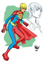 SUPERGIRL in color by Wieringo