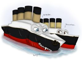 Deep inside the Titanic.. by pookyhorse