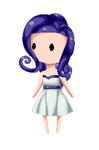 Rarity Pixel Baby by Candycide