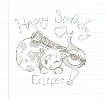 Happy 16th B-Day, Eclipse by HirokoTheHedgehog