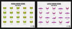 Yooka-Laylee Mood Icons by CheetagonZita
