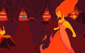 Finn and Flame Princess WAIT! by Jbaaron