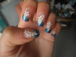 Water glitter and flowers/ agua y flores by nyuuchii