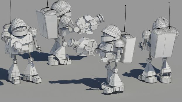 Droid Wireframe by Jguidac
