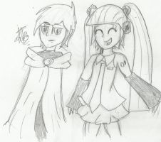 ~.::Halloween... Craven and Hatsune Miku::.~ by Rosii16