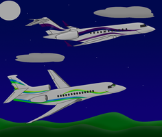 Carla and Oliver Night Flight (B737TheAirliner) by HappyJet50