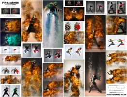 Fire and Ashes Photoshop Action by GraphicAssets