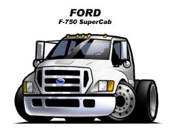 Chibi Ford F-750 by CGVickers