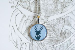 Fancy Stag Pendant by MonsterBrandCrafts