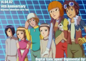 Digimon Adventure 02 14th Anniversary by uzukun89
