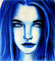 Blue Girl by Schoerie