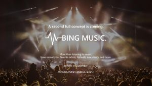 Bing Music app Concept is coming for September. by wifun2012