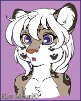 Snow Leopard Flat Color by KittMouri