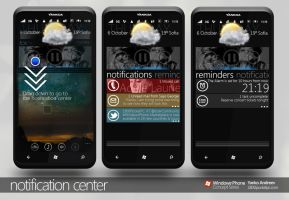 Notification center WP7 by yankoa