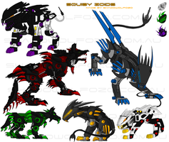 Squiby Zoid Collection by ShadoWolfozo