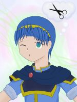 Marth needs a hair cut by Benergee